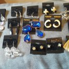 ALL 14 pairs Vintage pierced Earrings - dangles, studs, hoops