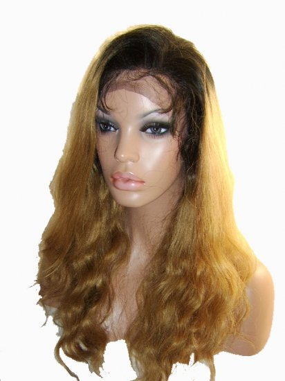 """18"""" Light Body Wave, Color 1b/ 27 Two Tone"""