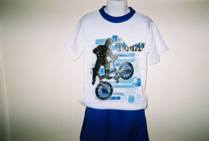 Boys Biker 2pc Short Set Size 7