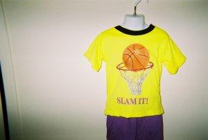 Boys Basketball  2pc Short Set Size 5