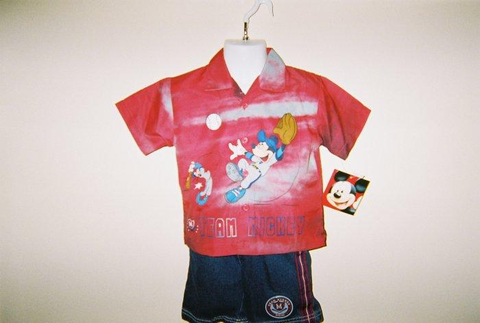 Infant Boys Disney Mickey Mouse 2pc Short Set size 24M