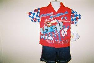 Infant Boys Looney Tunes 2pc Short Set size 18M