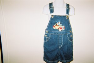 UNISEX Girls and Boys Jean Denim Overalls size 3T