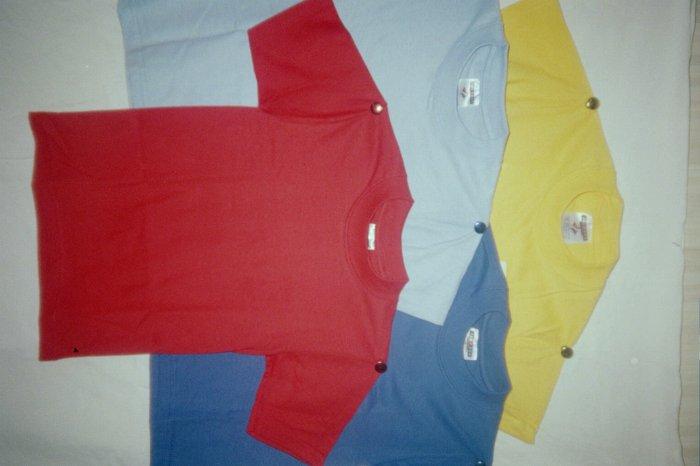 UNISEX Girls and Boys Baby Blue T-Shirts size Large