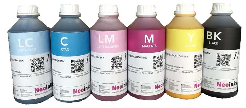 Dye Sublimation Inks For Mimaki JV 6 Color Printers 6000ml  Free Shipping