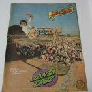 Original Santa Cruz SkateBoard Advertisement Rare Vintage Jeff Grosso