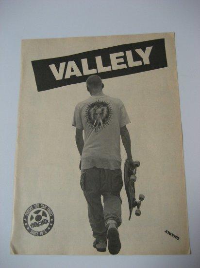 Original Mike Valley SkateBoard Advertisement Rare Vintage