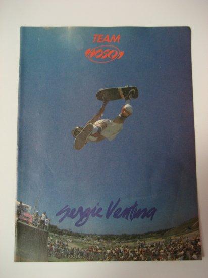Original Team Hosoi SkateBoard Advertisement Rare Vintage