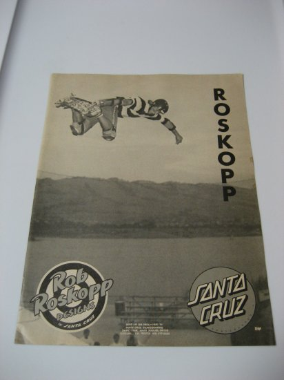 Original Santa Cruz SkateBoard Advertisement Rare Vintage Rob Roskopp