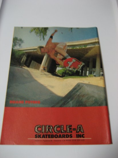 Original Circle - A SkateBoard Advertisement Rare Vintage Duane Peters