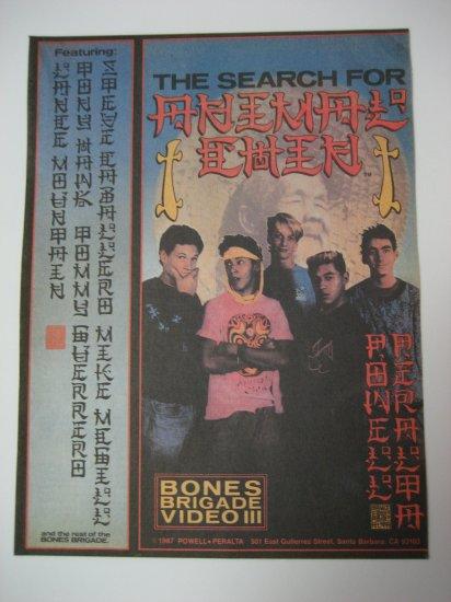 Original Bone Brigade SkateBoard Advertisement Rare Vintage Animal Chin