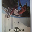 Original Independent SkateBoard Advertisement Rare Vintage Scott Oster