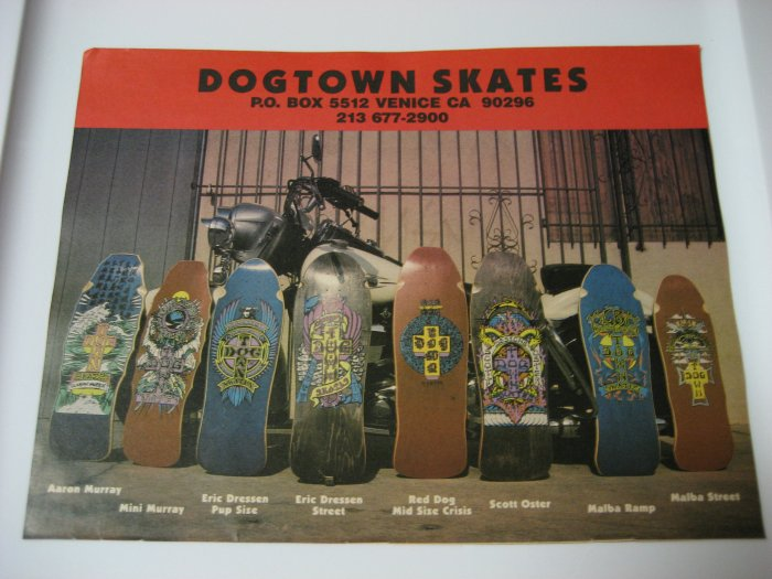 Original Dogtown SkateBoard Advertisement Rare Vintage