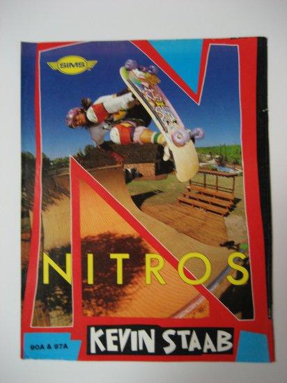 Original Nitros SkateBoard Advertisement Rare Vintage Kevin Staab