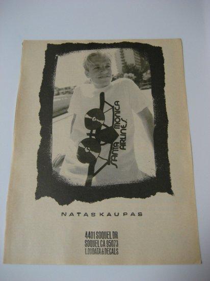 Original Santa Monica Airlines SkateBoard Advertisement Rare Vintage Natus Kaupas