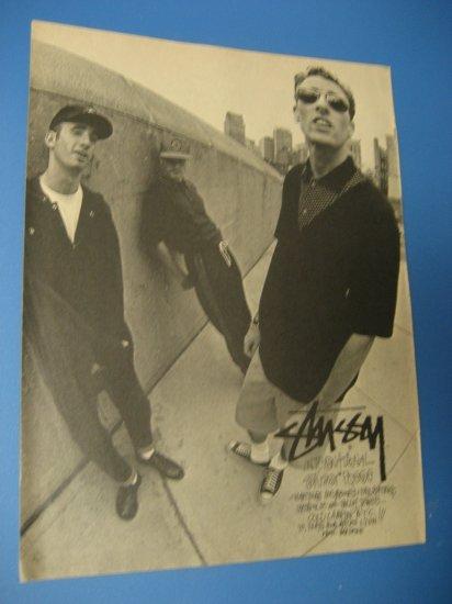 Original STUSSY CLOTHING SkateBoard Advertisement Rare Vintage