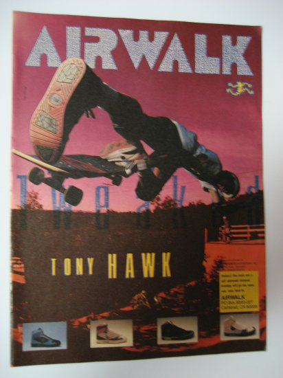 Original Airwalk SkateBoard Advertisement Rare Vintage Tony Hawk