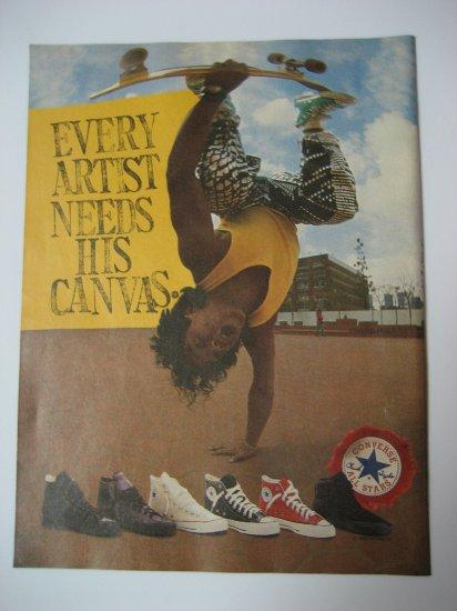 Original Christian Hosoi SkateBoard Advertisement Rare Vintage Converse