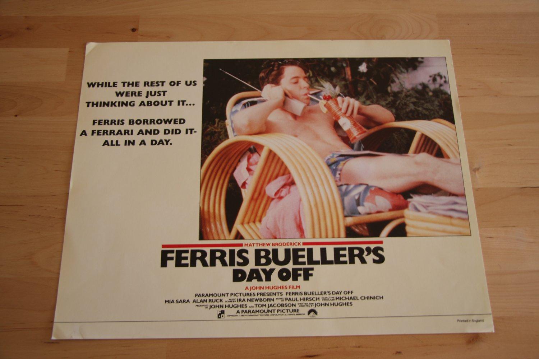 Original Ferris Bueller's Day Off Lobby Card
