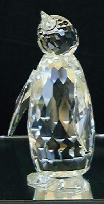 "Swarovski Austrian Crystal Figurine Penguin 3 3/8"" high"
