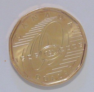 CANADA Canadian Montreal HOCKEY HNL $1 ONE DOLLAR COIN