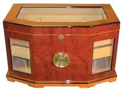 "300 Cigars Mahogany  Wood HUMIDOR 19.5 x 12 x 12.5"""
