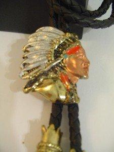 Colored Indian Head BOLO TIE COWBOY WESTERN NECKLACE