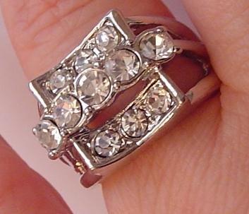 Austrian Crystal Rhinestones Wedding Silver Tone RING