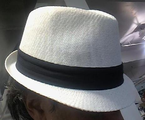 White Straw Fedora Unisex One Size Hat