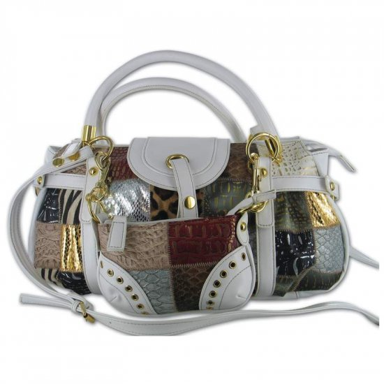 Gigi Chantal  Multi Colored Purse with White Background