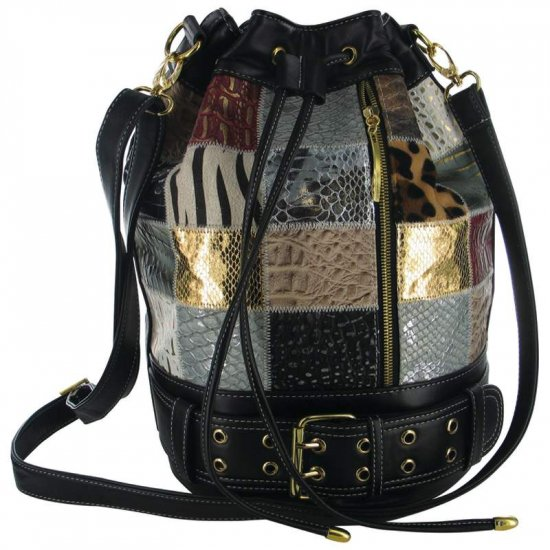 Bucket Bag with Black Background