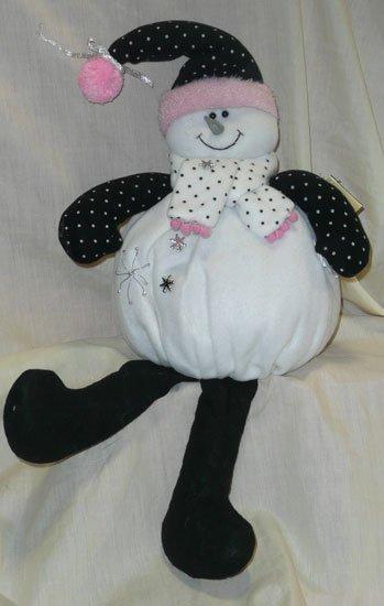 Plush Shelf Snowman