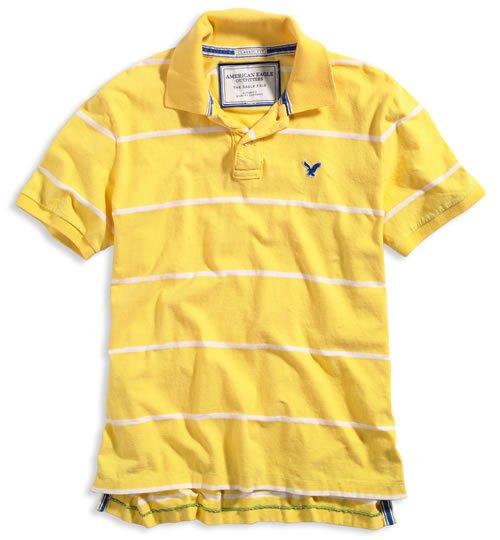 AMERICAN EAGLE men's AE cotton polo - Yellow XXL