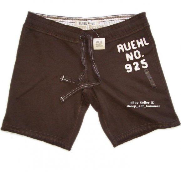 RUEHL/Abercrombie womens bermuda lounge sweat shorts - brown / Large L
