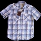 RUEHL/Abercrombie mens button dress woven western plaid shirt - XXL