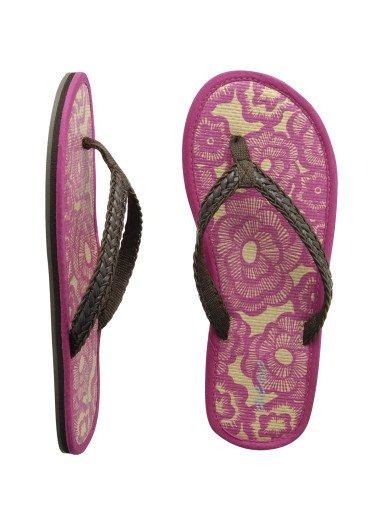 AEROPOSTALE womens Tatami Beach Flip-Flop Sandals - Pink / 10