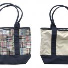 AEROPOSTALE womens Aero plaid patchwork madras reversible tote bag