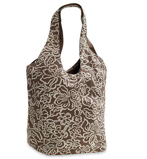 AMERICAN EAGLE women's floral reversible tote bag - Brown