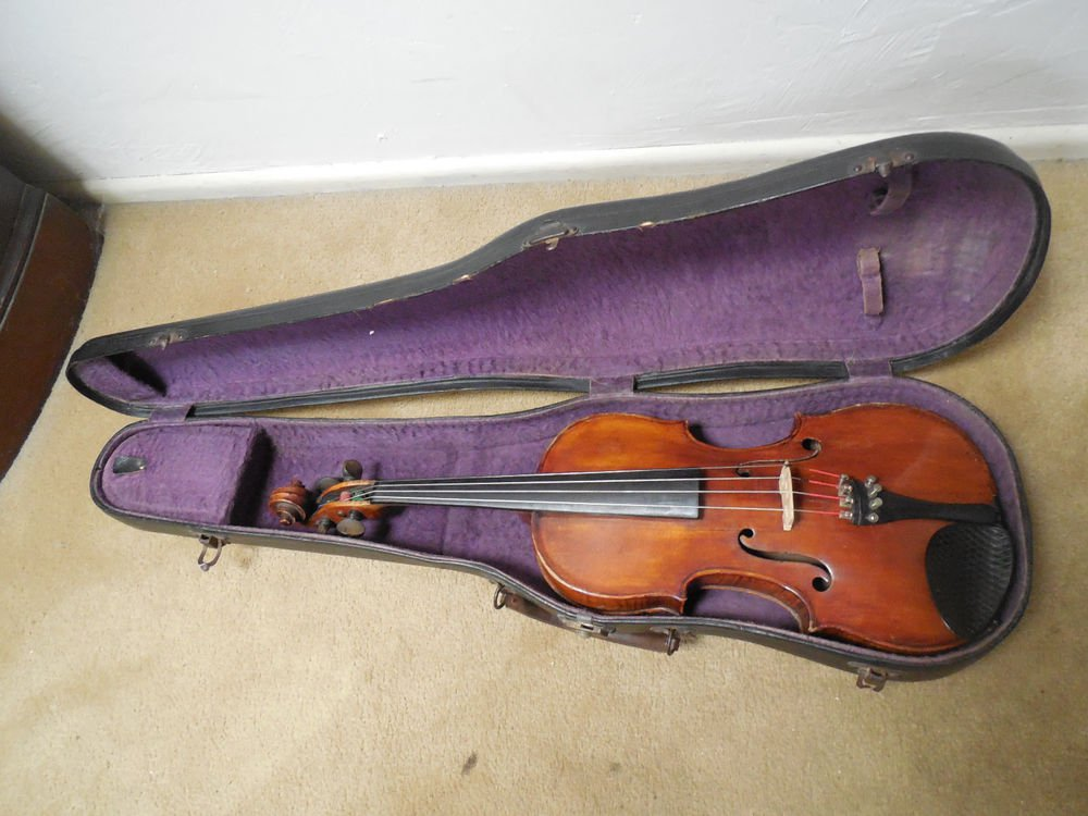 1774 Joannes Georgius Leeb violin grafted neck 18th Century