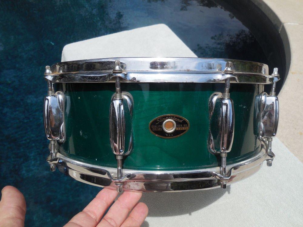 """Vintage Slingerland Maple Snare 14"""" Trans Green"""