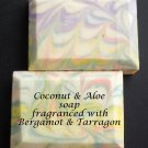 Coconut & Aloe soap - Bergamot & Tarragon