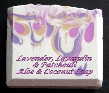 Lavender, Lavandin & Patchouli - Coconut & Aloe soap