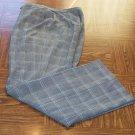 Worthington Stretch Size 16T 16 Tall Black Plaid Pattern Knit Women's Pants Slacks 001p-6 location92