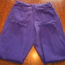 WOMEN'S VENEZIA Purple Casual JEANS Size 16 Made in USA 001p-17 Locw23