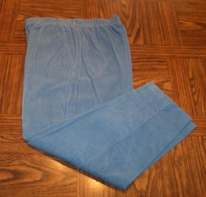 Season Ticket Powder Blue Women's Corduroy Casual Pants Size 16s 16 Short 001p-22 locw23