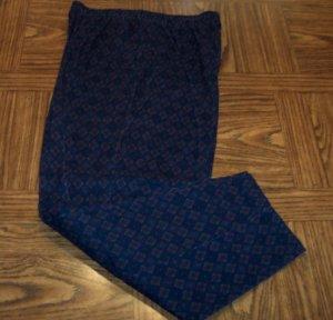 Season Ticket Navy Women's Corduroy Casual Pants Size 16p 16 Petite USA 001p-24 locw23