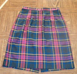 BLASSPORT by BILL BLASS Women's Plaid Pencil SKIRT Size 8  001s-03 School Girl locw21