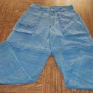 REI Women's Outdoor Hiking Green Cargo Pants Convertible Shorts Size 8 001p-46 Locw14
