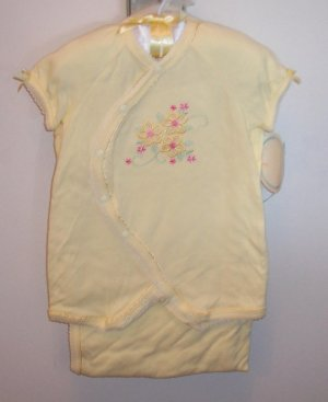 POT OF GOLD INFANT GIRLS Yellow LAYETTE 3pc SET - Bath Blanket Outfit Hat 0 - 3 Months locationw7