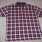 TOMMY HILFIGER MEN'S SHORT SLEEVE Plaid POLO Shirt  Size L Large 001SHIRT-4